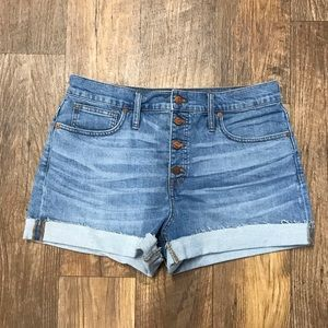 Madewell High Rise Denim Shorts: Button Front Edt.